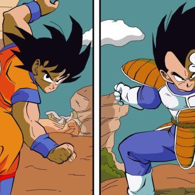 dragon ball goku vegeta anime pelea fanart twitter