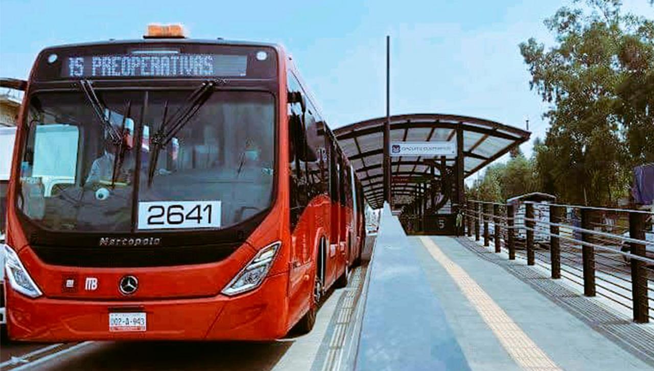 La ampliación de la línea 5 del metrobus ya está en operación.