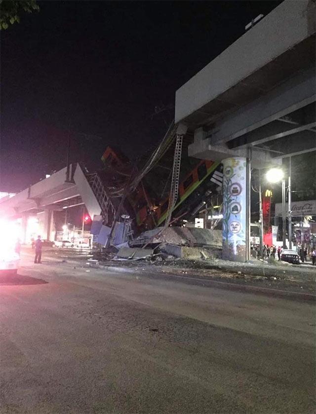 Metro CDMX Línea 12 Derrumbe Accidente