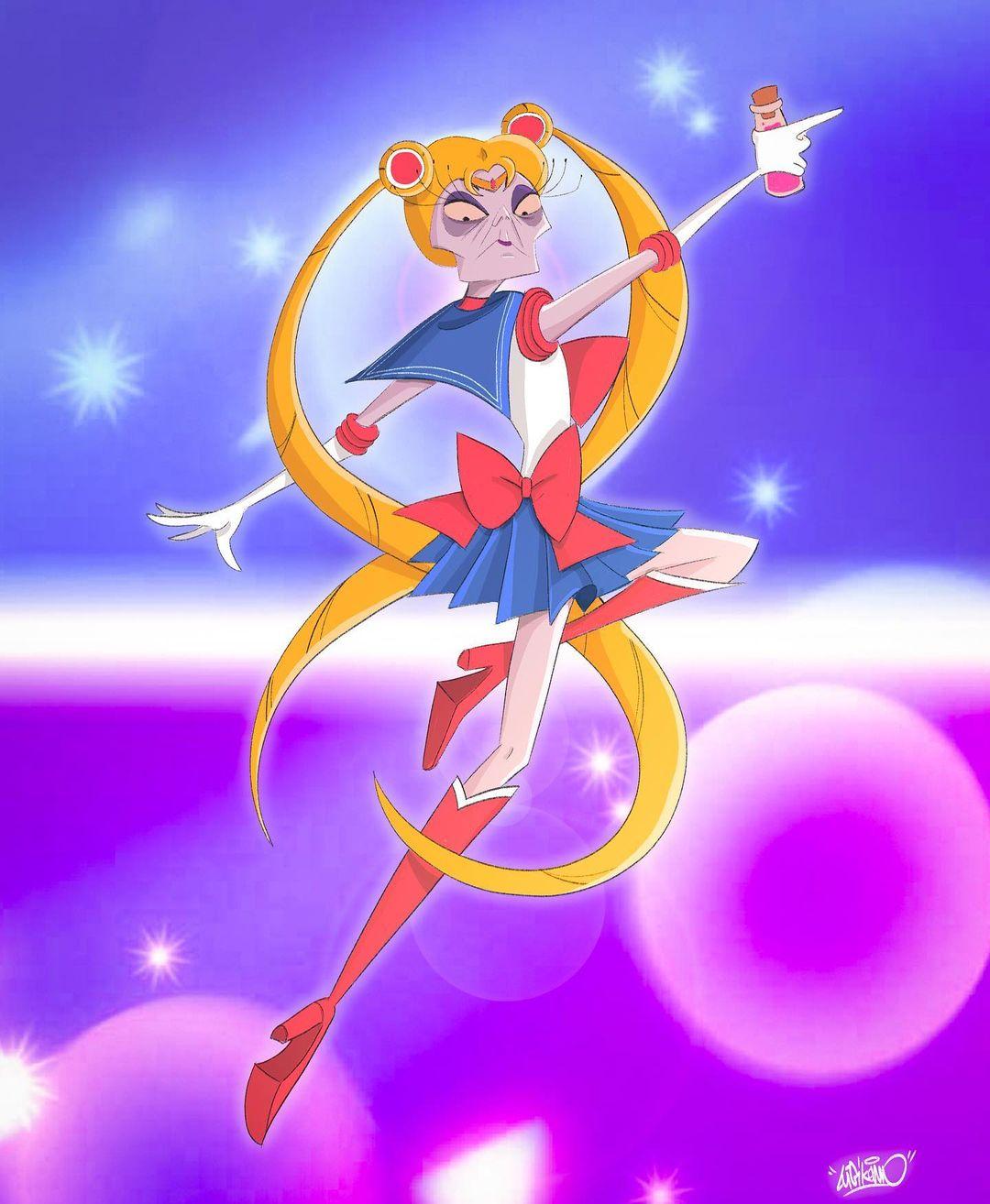Sailor Moon: Fanart realiza un gran crossover entre los villanos de Disney y las Sailor Scout