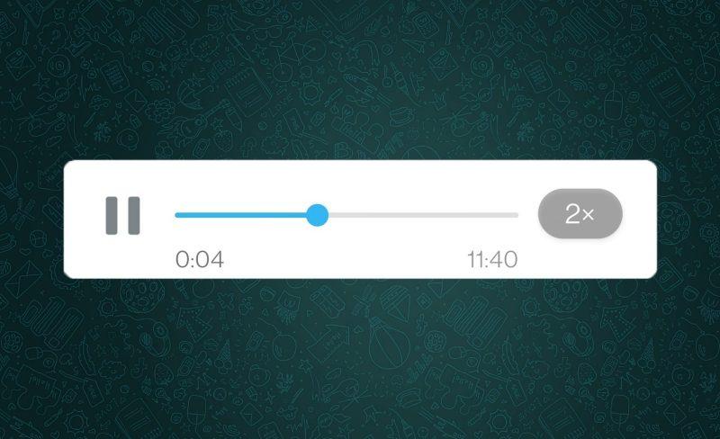 whatsapp velocidad notas de voz