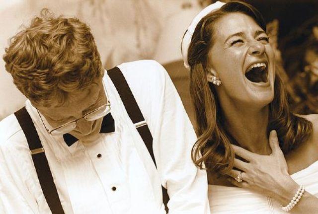 Así se veían Bill Gates y Melinda en su boda