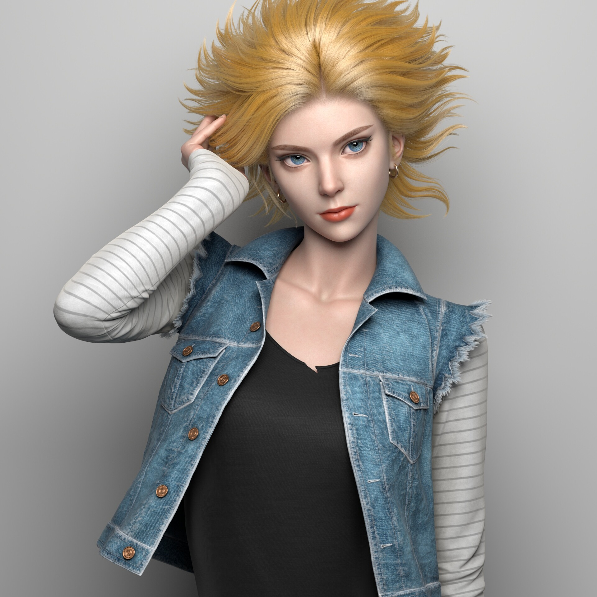 Dragon Ball: Fanart recrea a Androide 18 dándole un aspecto realista