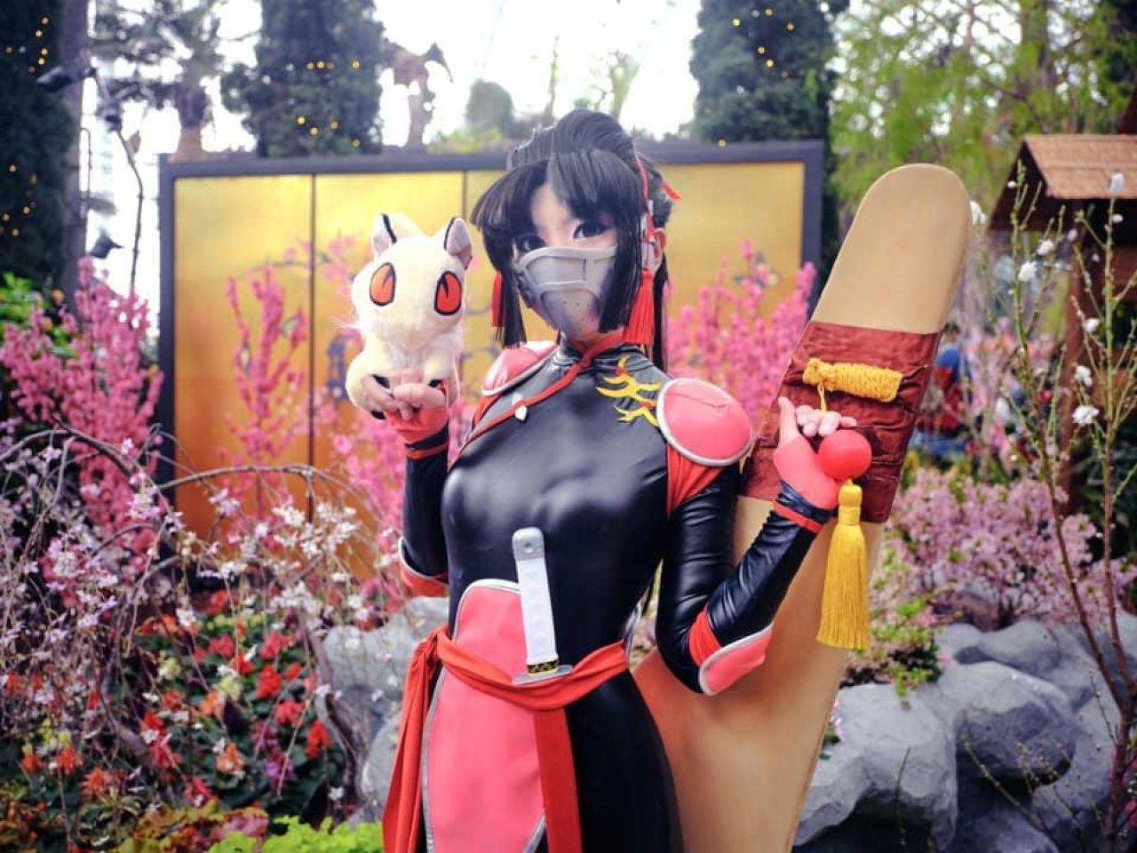 cosplay sango inuyasha anime