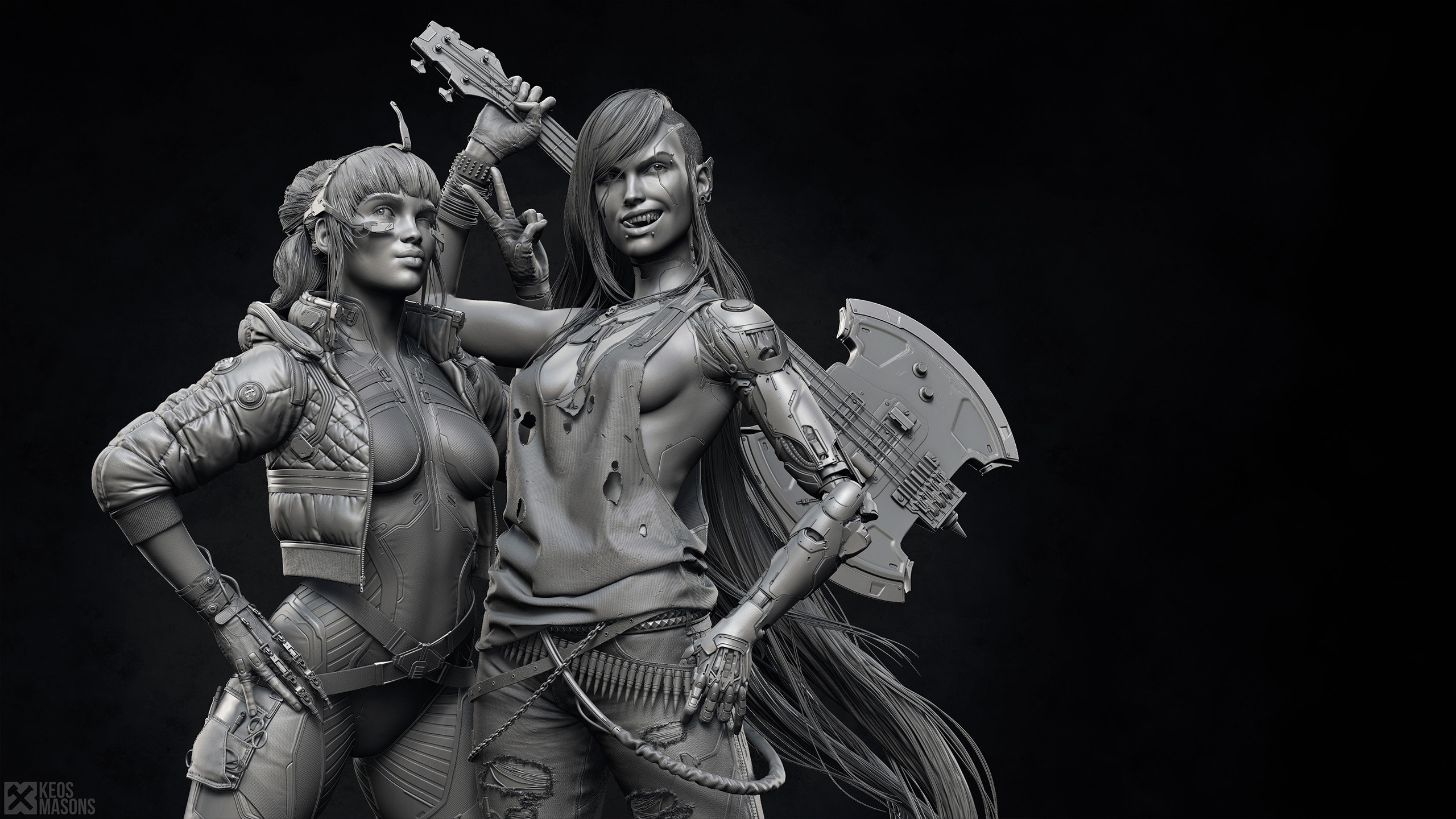 Hora de Aventura: Fanart transforma a la Dulce Princesa y a Marceline en personajes de Cyberpunk 2077