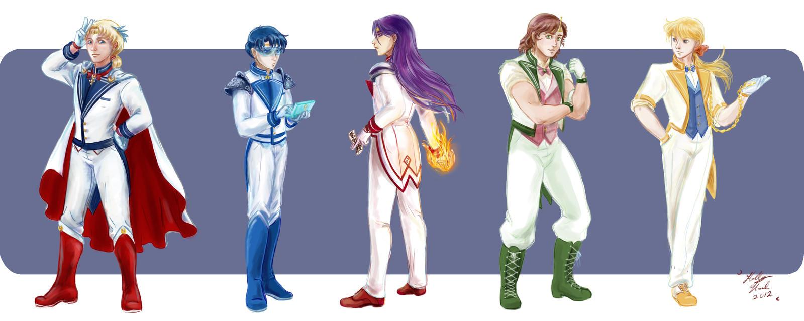 Sailor Moon: Fanart convierte a las Sailor Scouts en su versión masculina