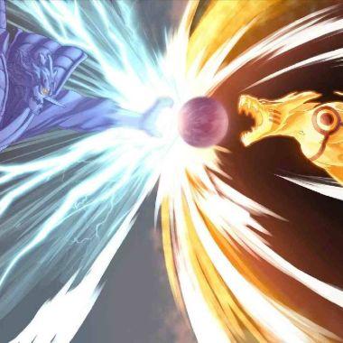 rasengan vs chidori naruto sasuke