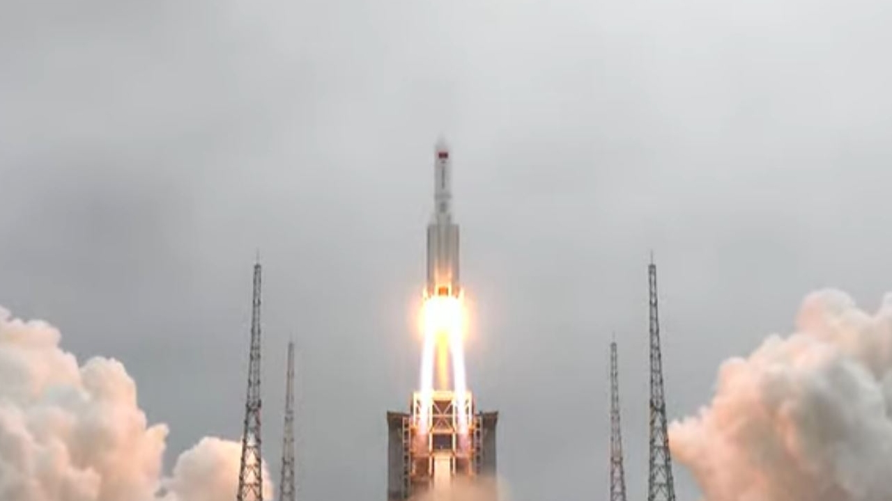 Tianhe cápsula espacial china cohete