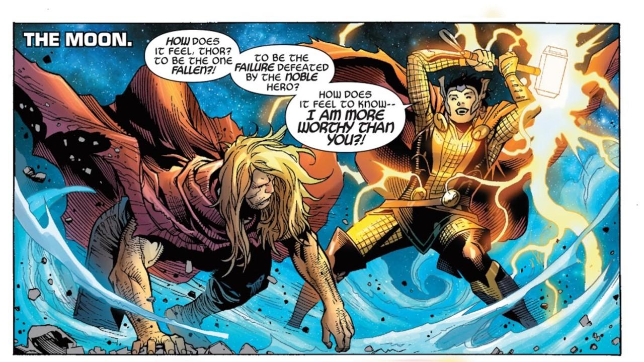 loki marvel comics axis thor pelea