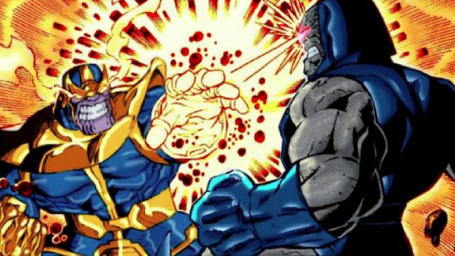 darkseid vs. thanos marvel dc evento pelea 90