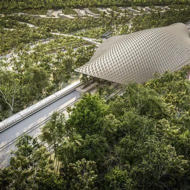 estacion tren maya tulum estructura