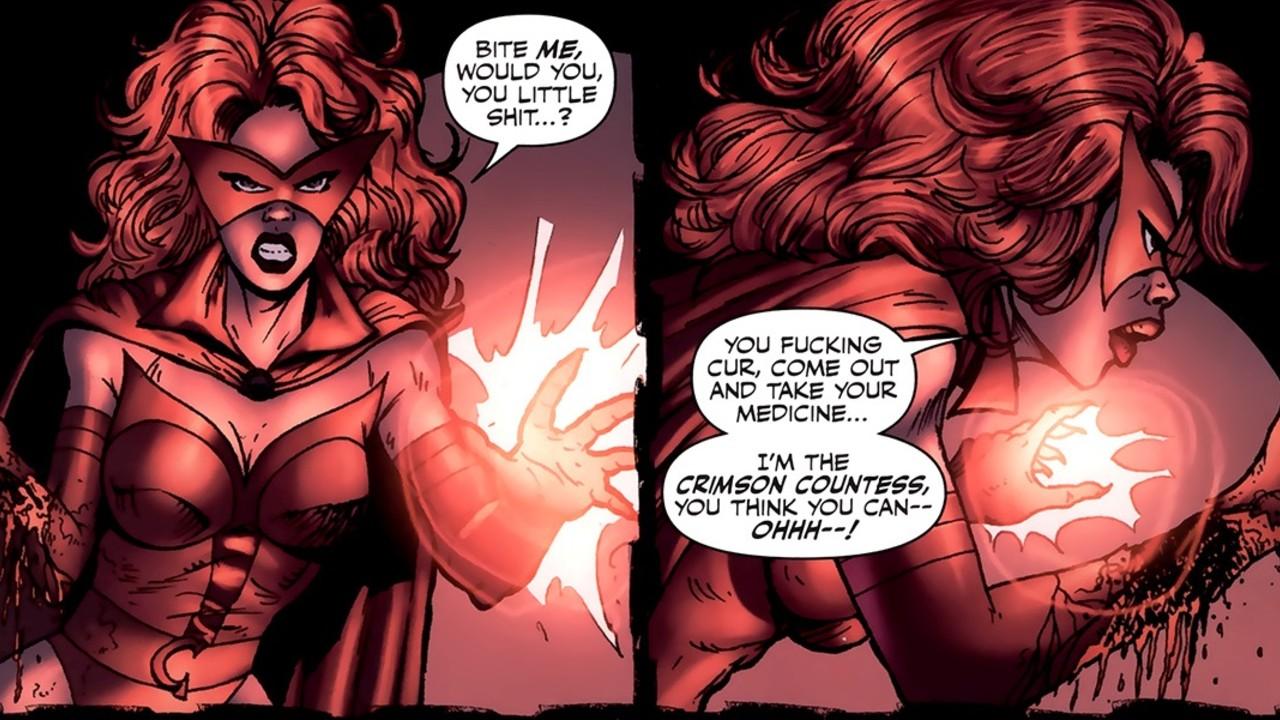 Crimson Sountess serie equipo scarlet witch
