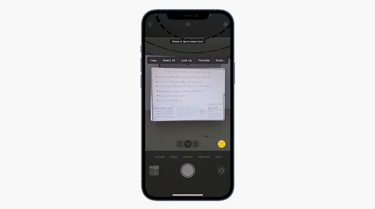 LiveText Actualizaciones iOS15 Apple