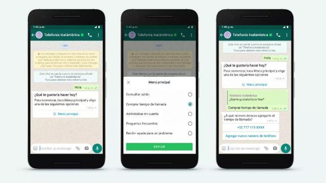 Whatsapp api business app cliente tienda