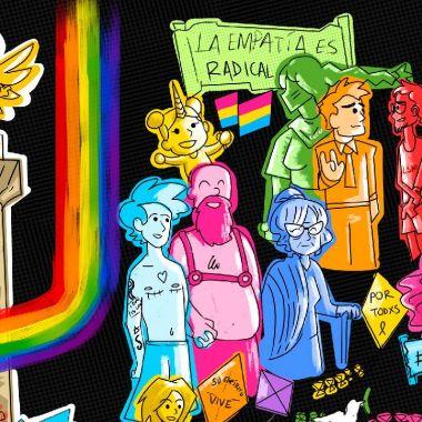cartel marcha lgbt 2021