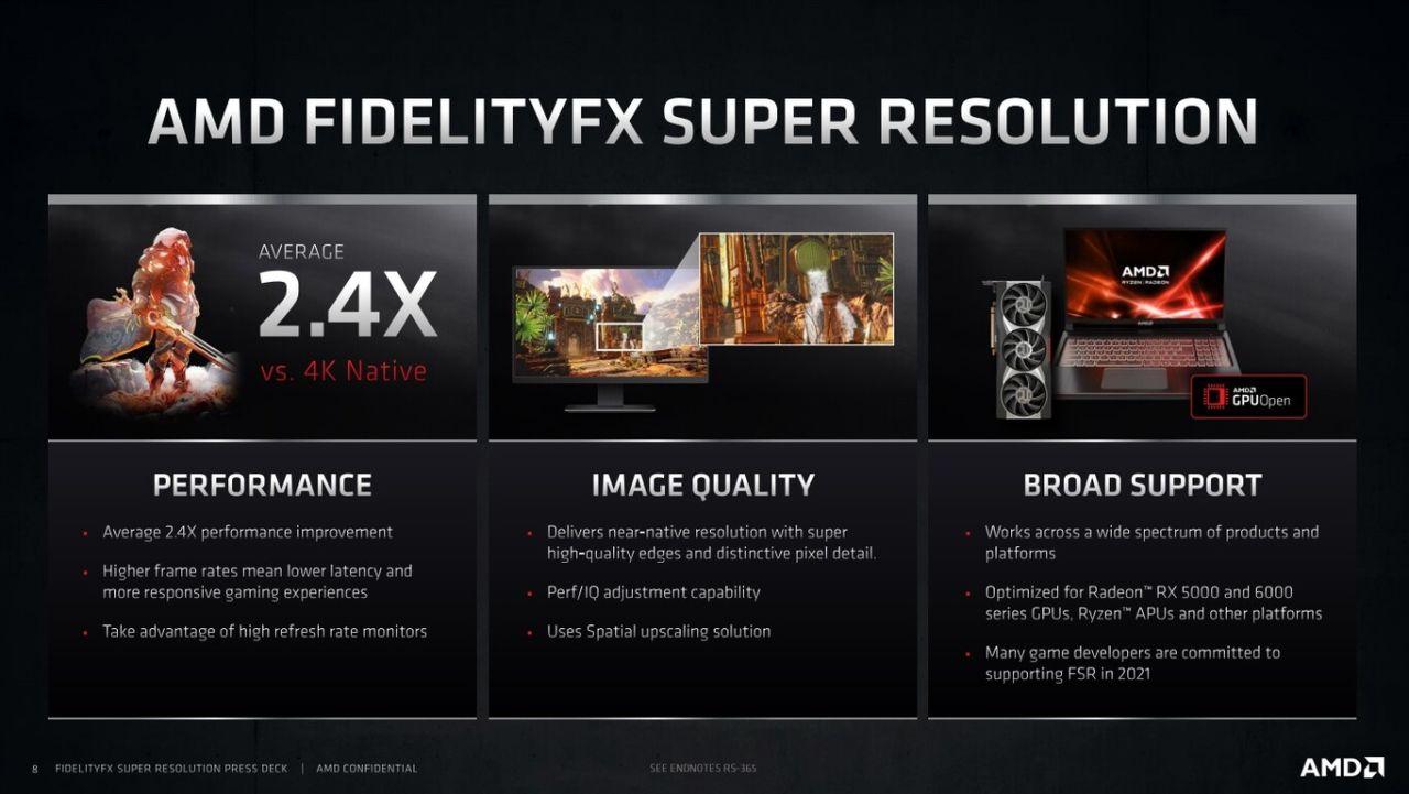 fidelityfx super resolution amd especificaciones