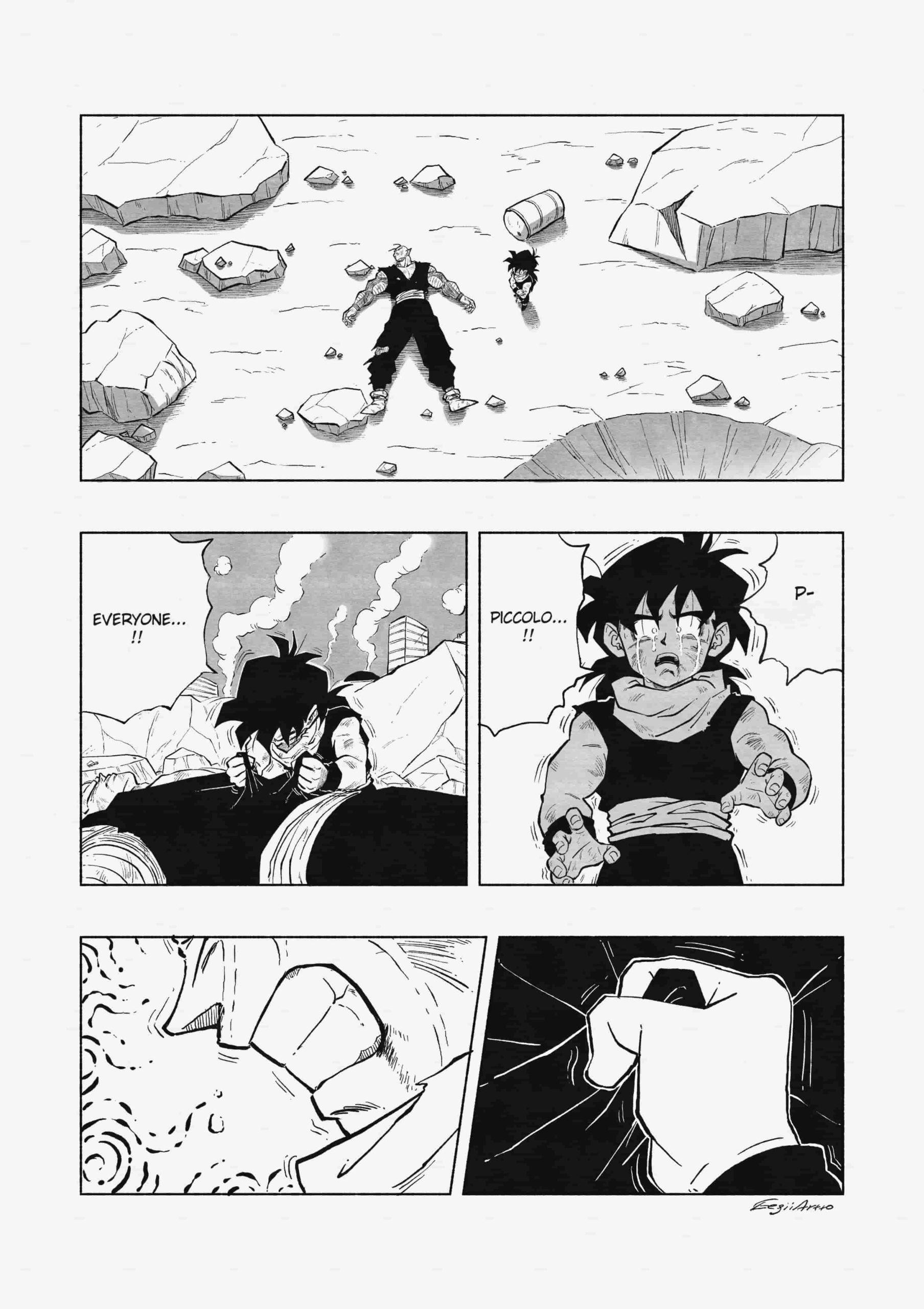 gohan futuro super saiyajin transformacion manga