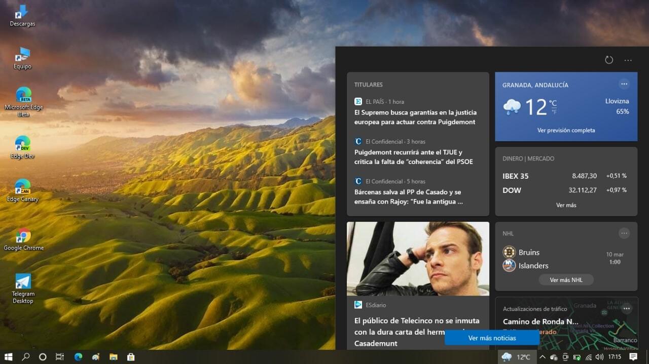 widget clima windows 10 como eliminar