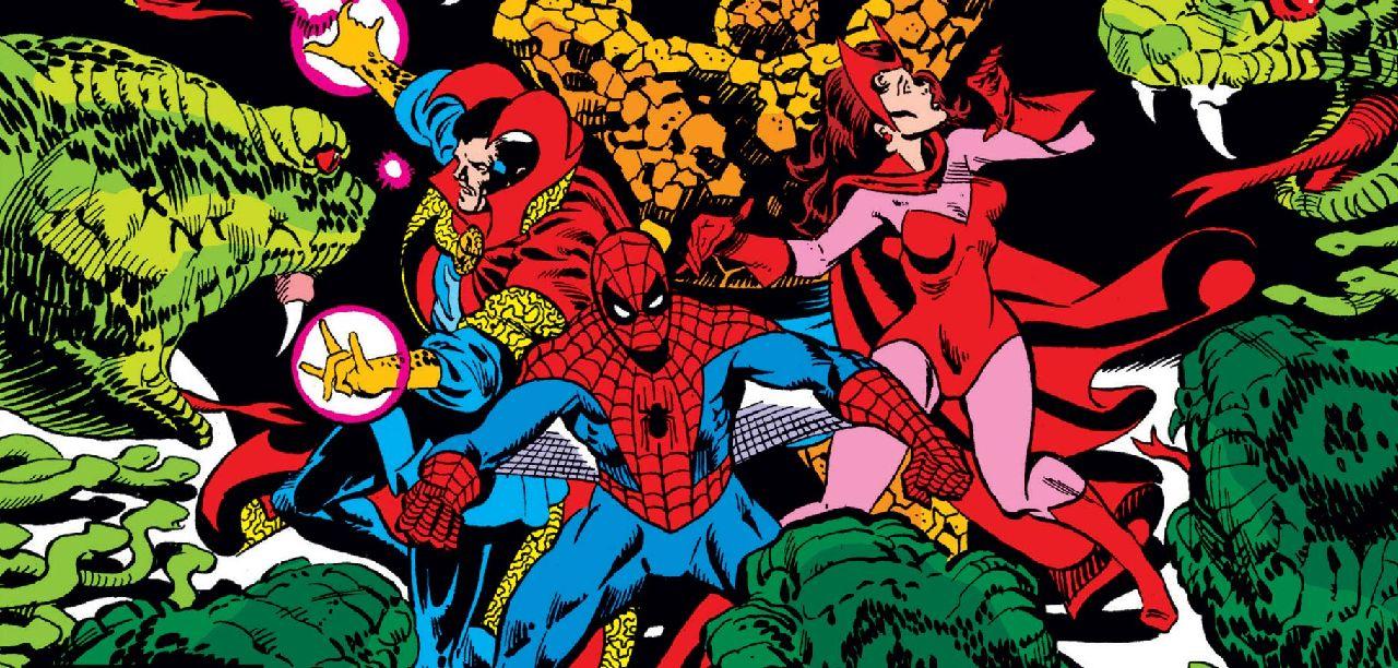 comics de marvel doctor strange spider-man scarlet witch