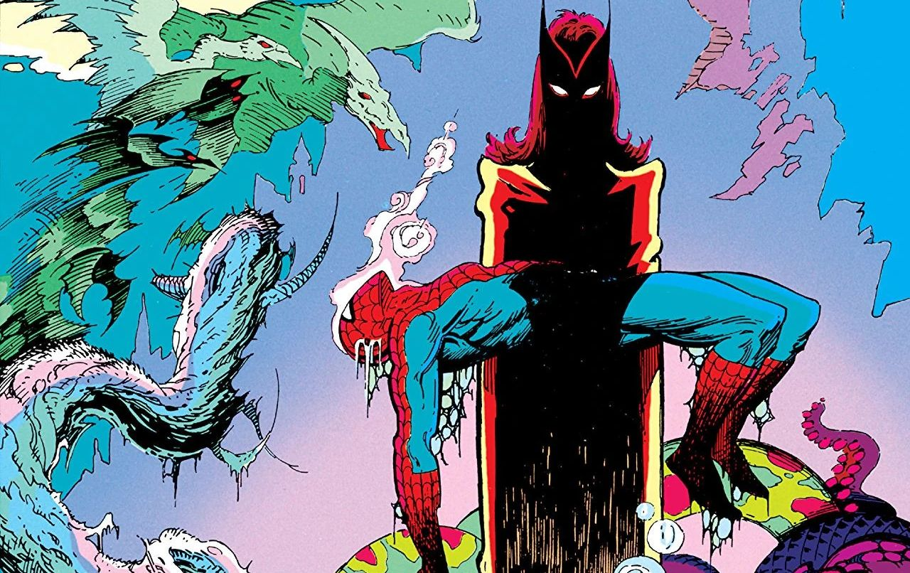 comics de marvel spider-man bruja escarlata marvel fanfare