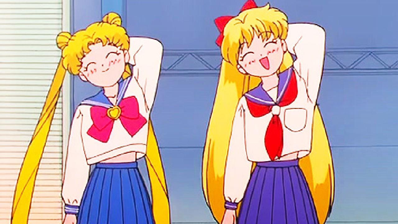 serena y mina sailor moon