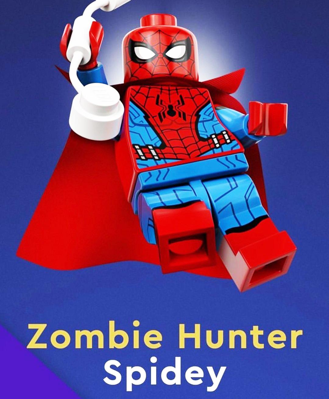 Spiderman cazador de zombies lego what if marvel
