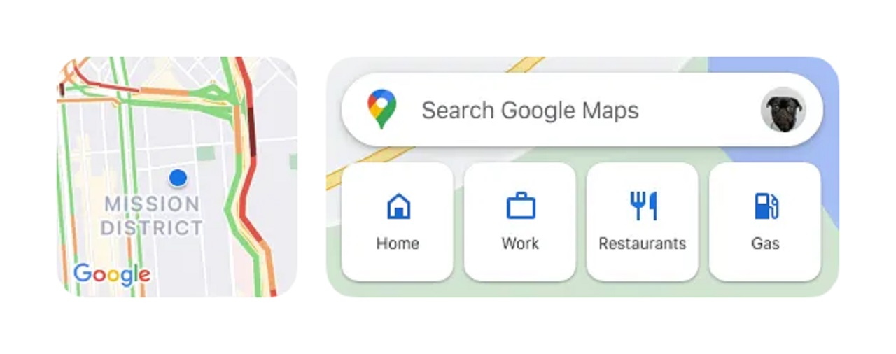 Google Maps Widgets iOS Apple iPhone