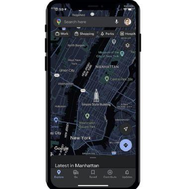 Google Maps iOS Modo Oscuro Dark Mode