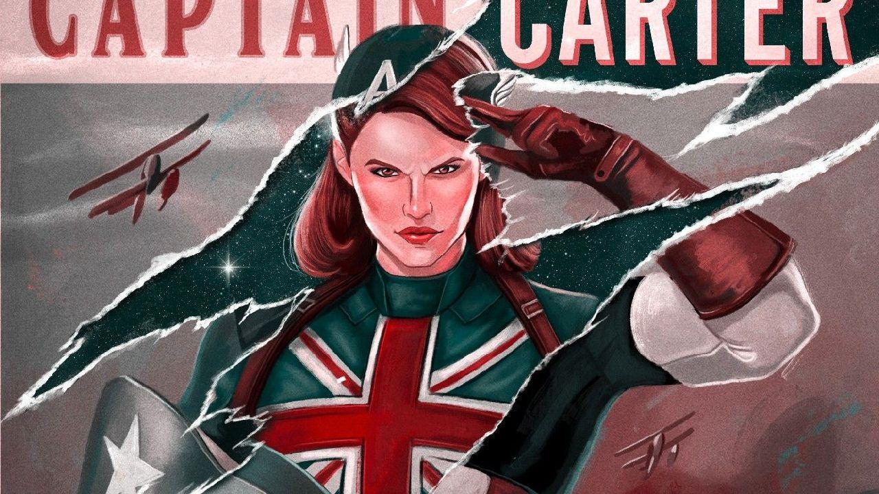 superhéroes de marvel capitana carter