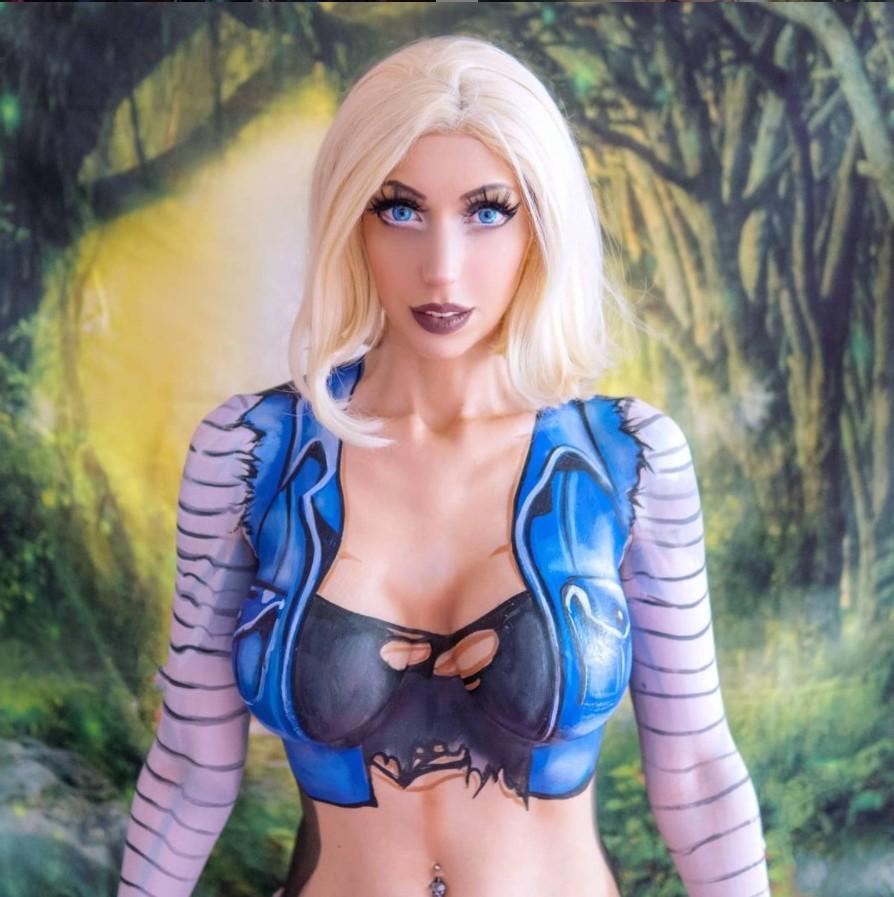 numero 18 cosplay body paint intraventus