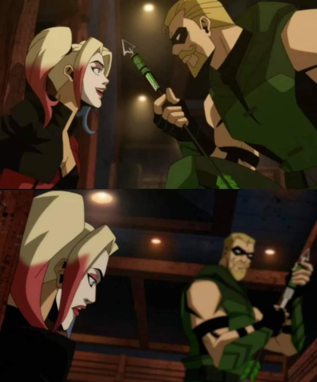 Injustice pelicula animada harley quinn green arrow