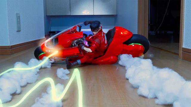 Akira recreación escena stop motion anime