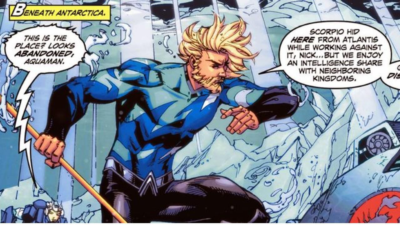 Aquaman traje de infiltracion azul