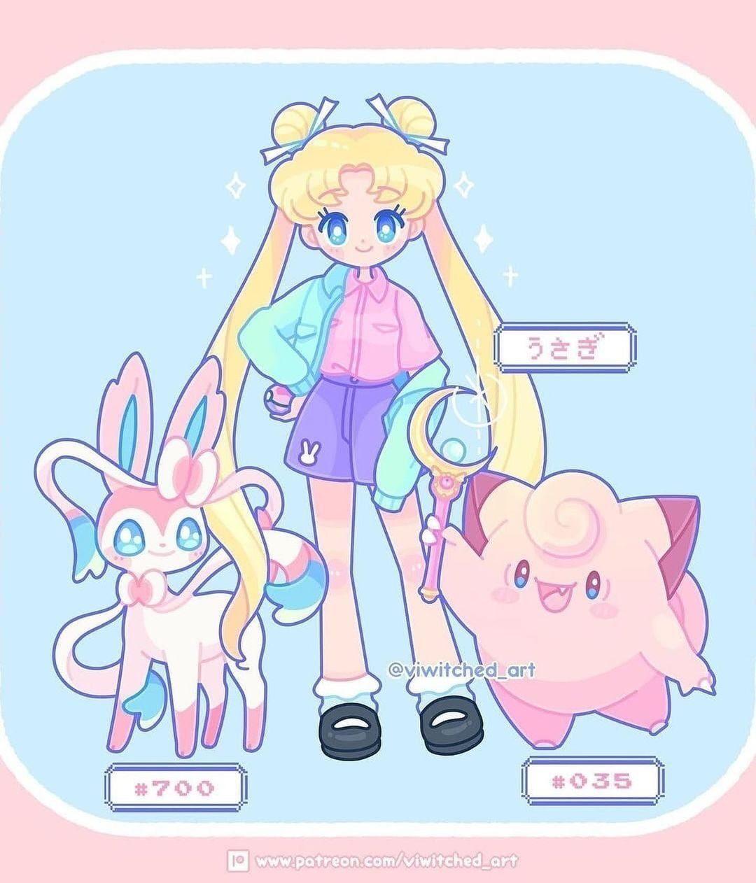 Sailor moon pokemon entrenadora