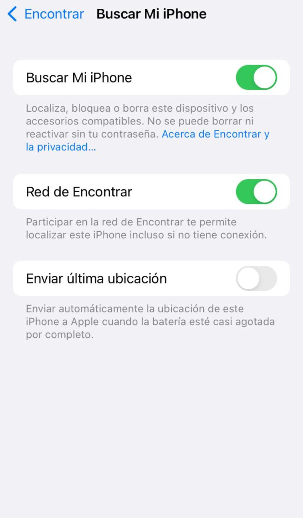 activar búsqueda iPhone iPad iOS 15
