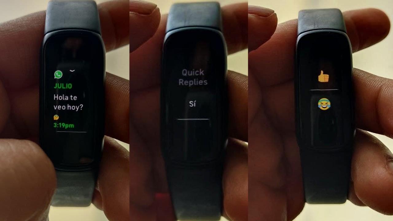 Fitbit luxe reseña codigo espagueti notificaciones responder