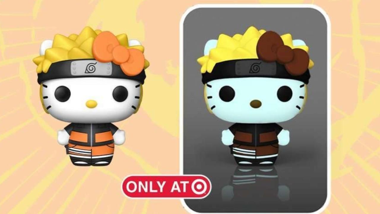 naruto hello kitty colaboración figuras funko