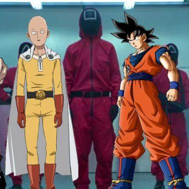 Personajes anime ganar Juego Calamar
