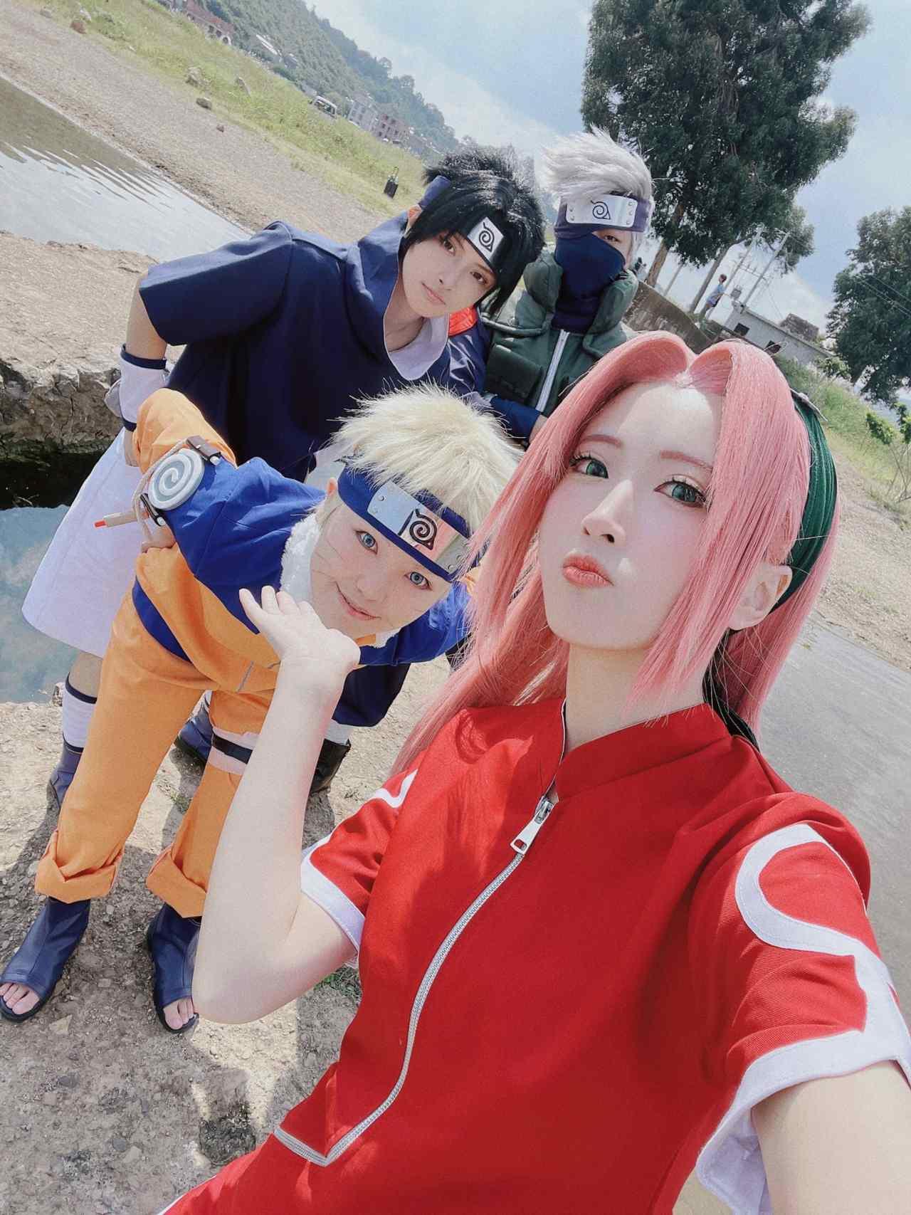 equipo 7 cosplay naruto serie