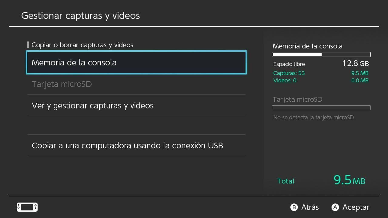 transferir videos imágenes Switch