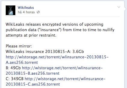 Wikileaks libera um grande arquivo de segurança que ninguém ainda pode abrir