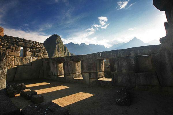 El templo de las tres ventanas de Machu Picchu, Perú.