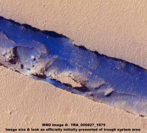Rios de agua en Marte