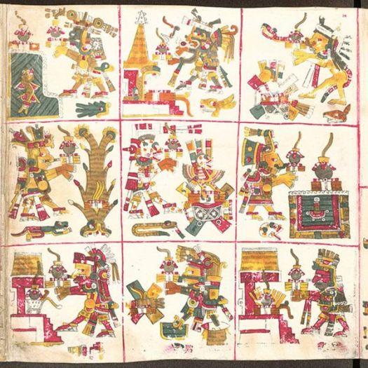 Señores de la Noche, página 14 del Códice Borgia.