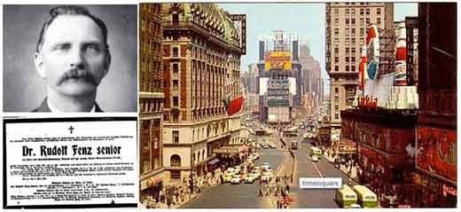 Rudolph Fentz apareció en 1950 en el Time Square de NY.
