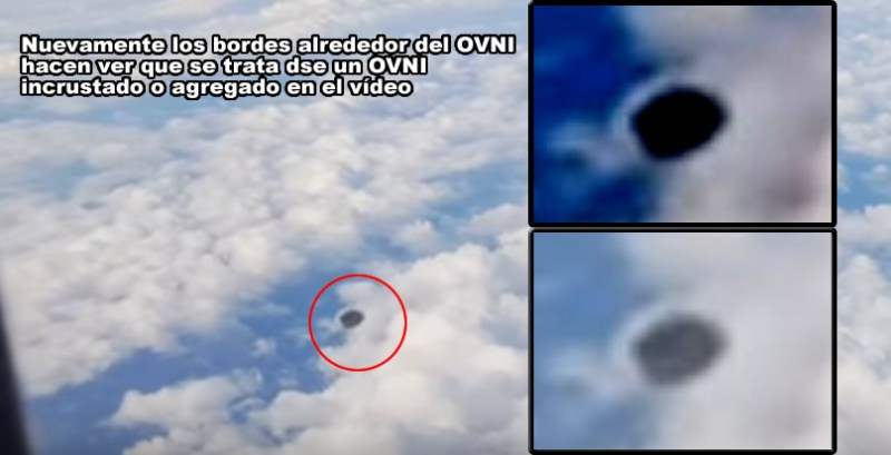 UFO sighting in Spain recorded from an airplane