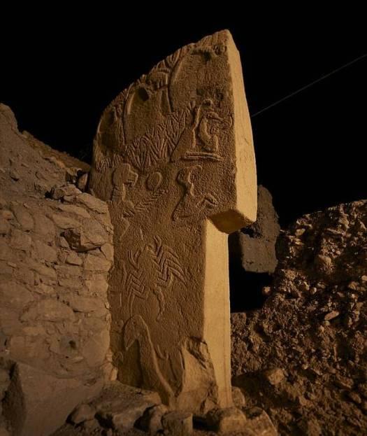 Piedra buitre, en Göbekli Tepe, Turquía.