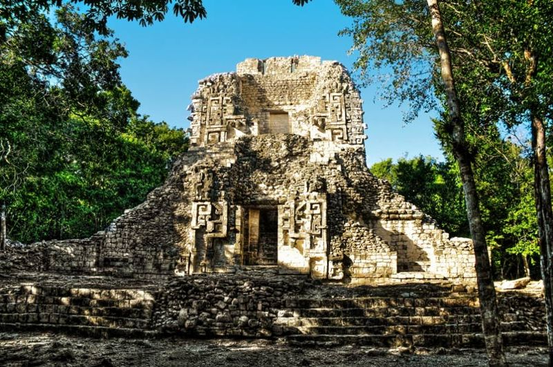 Structure XX of the archaeological site of Chicanná