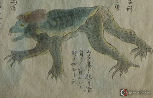 Drawing of a Kappa captured in 1801