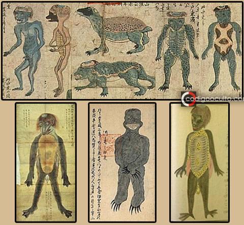Drawings of Kappas appeared in the book Suikokouryaku